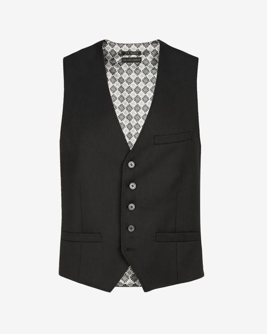 Ted Baker | Black Wool Waistcoat for Men | Lyst