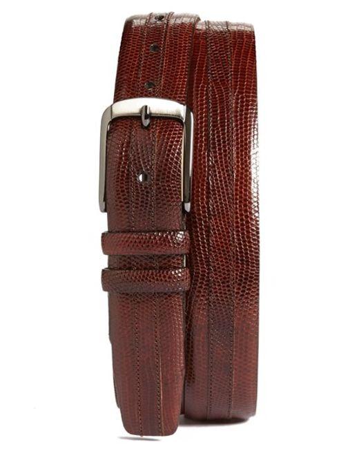 Mezlan | Brown Iguana Belt for Men | Lyst
