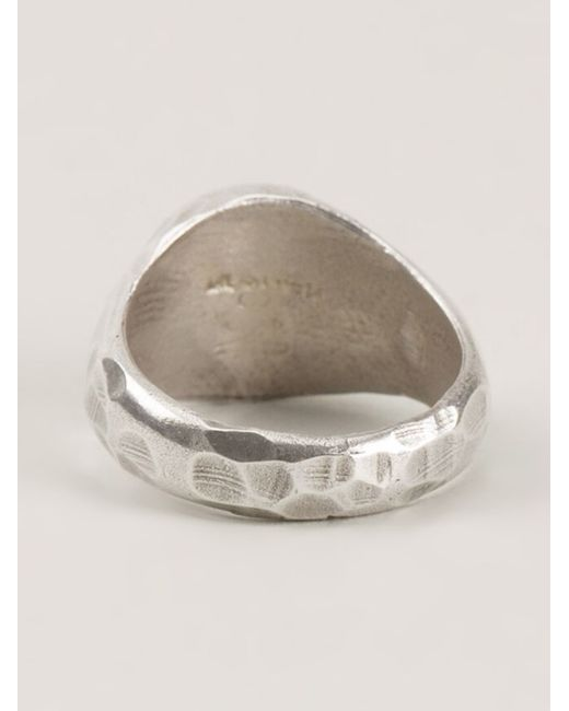 Henson | Metallic Carved Signet Ring | Lyst