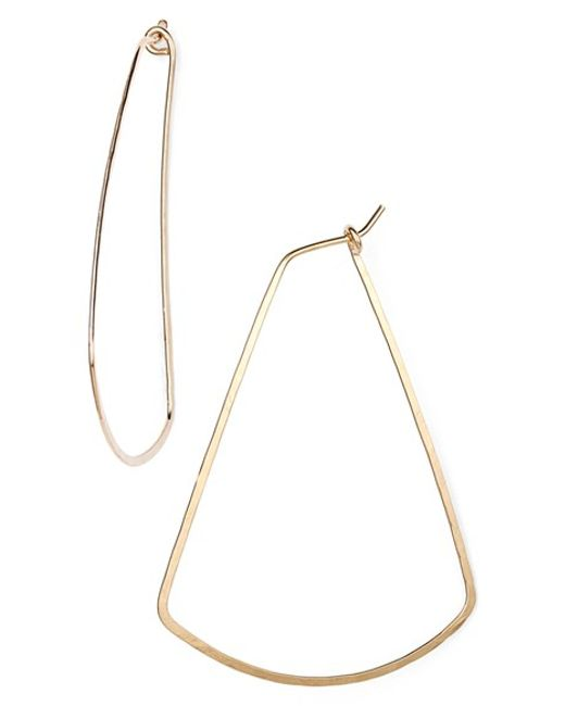 Ija | Metallic Triangle Hoop Earrings | Lyst