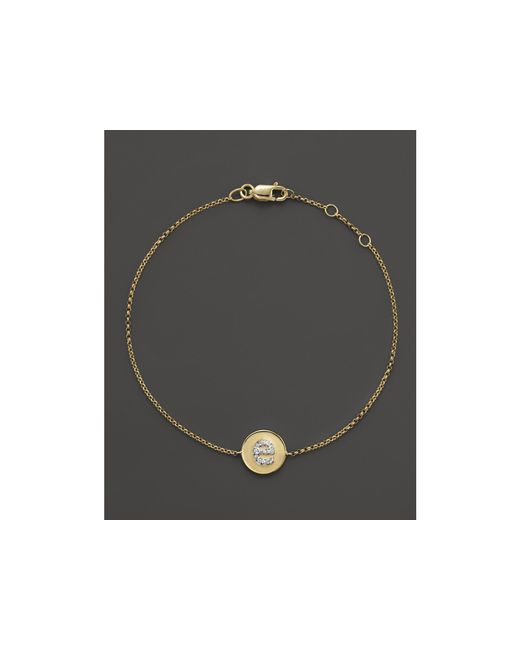 KC Designs | Yellow Diamond Pave Initial Bracelet | Lyst