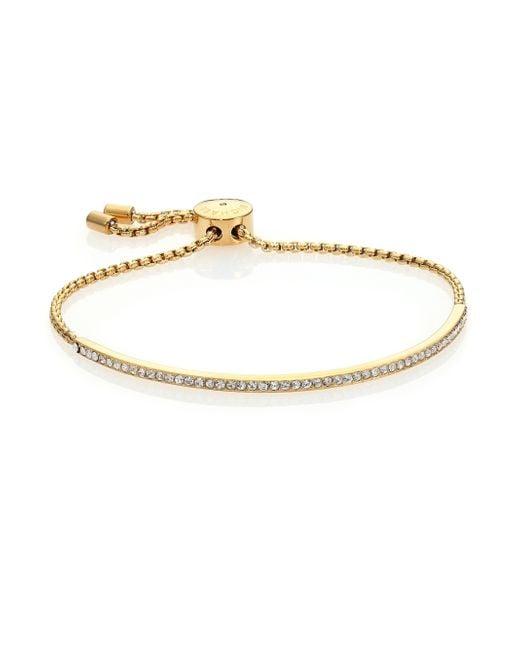 Michael Kors | Metallic Brilliance Statement Pave Bar Bracelet/goldtone | Lyst