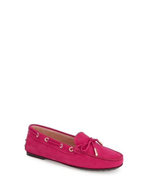 Tod's | Pink Gommini Leather Driving Shoes | Lyst