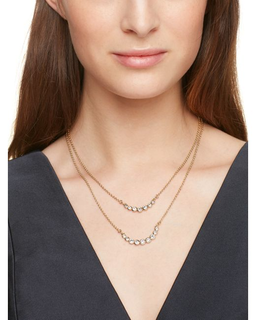 Kate Spade | Metallic Dainty Sparklers Double Strand Necklace | Lyst