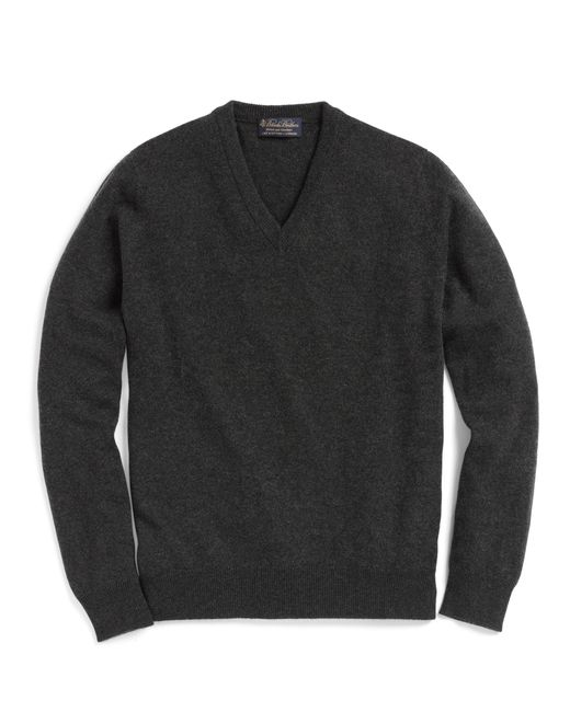 Brooks Brothers | Gray Cashmere V-neck Sweater-basic Colors for Men | Lyst