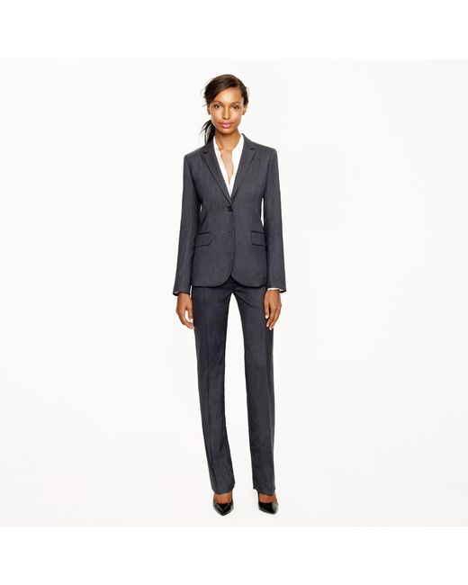 J.Crew | Gray Tall 1035 Two-button Jacket In Pinstripe Super 120s Wool | Lyst