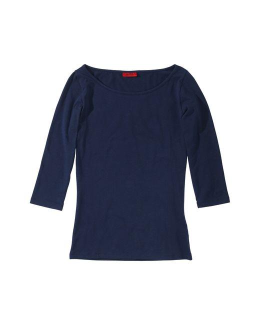 HUGO | Blue Plain-coloured Shirt In Stretch Cotton: 'dannala' | Lyst