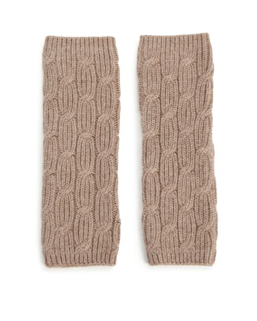 Portolano Cable-knit Arm Warmers in Brown Lyst