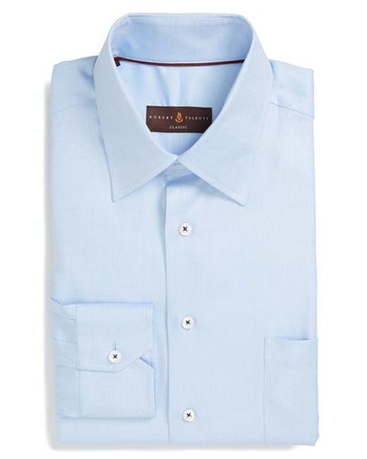 Robert talbott classic fit dress shirt in blue for men for Robert talbott shirts sale