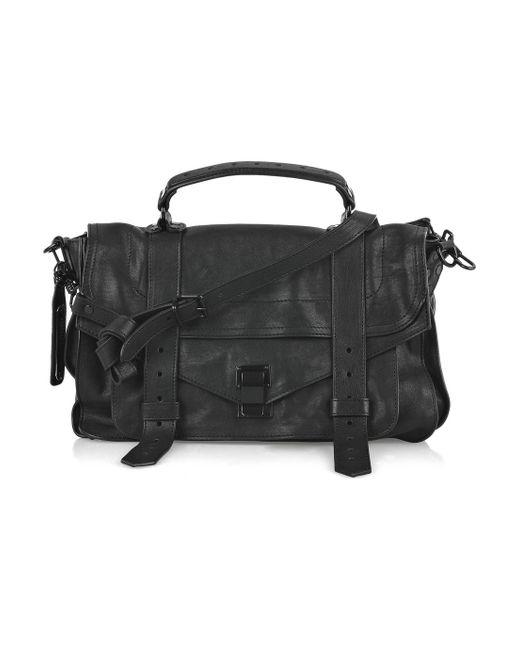 Proenza Schouler | Black Ps1 Medium Leather Satchel | Lyst