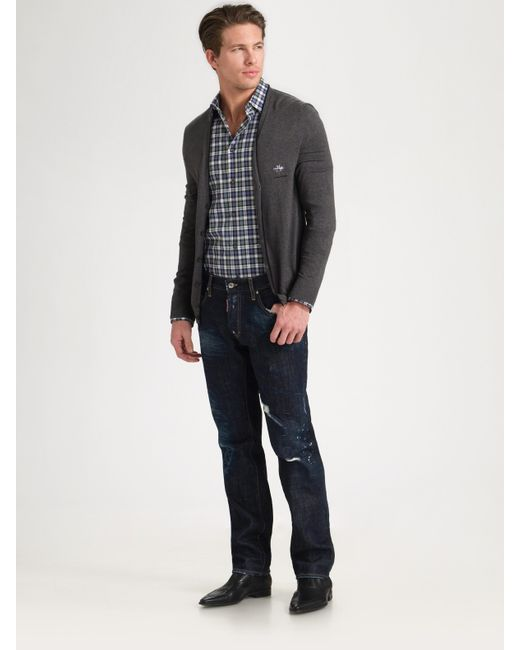 DSquared² | Blue Busted Straight-leg Jeans for Men | Lyst