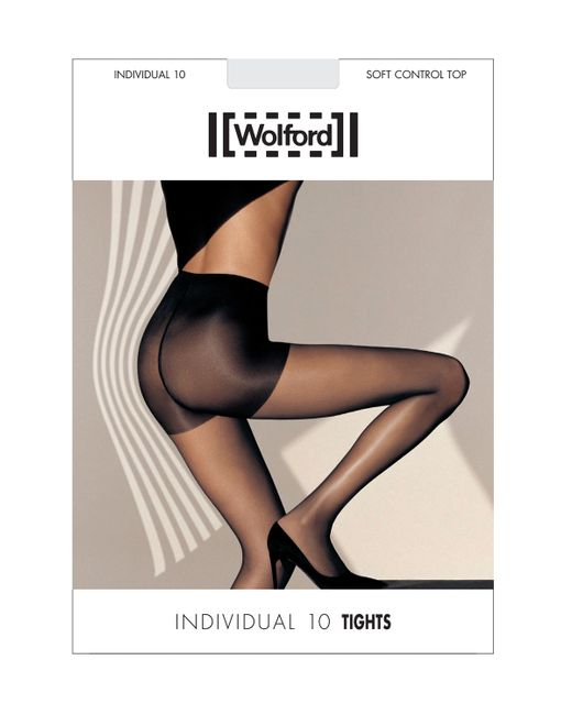 Wolford | Black Individual 10 Soft Control Top Tights | Lyst