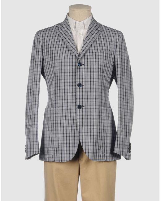 Tagliatore   White Gingham Check Blazer for Men   Lyst