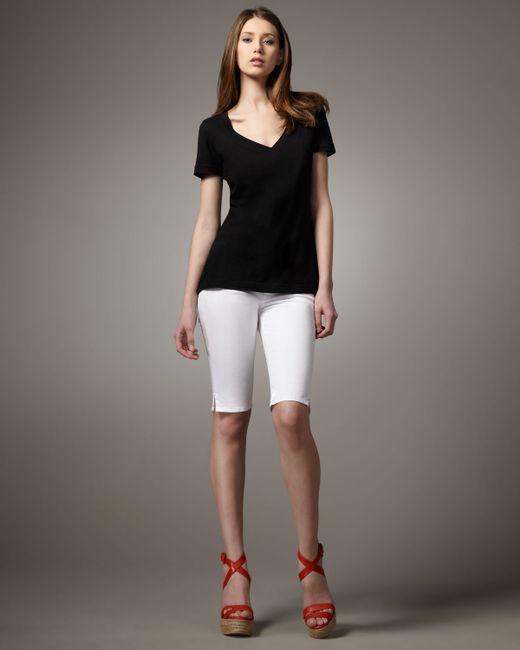 Hudson Jeans | Viceroy Knee Shorts, White | Lyst