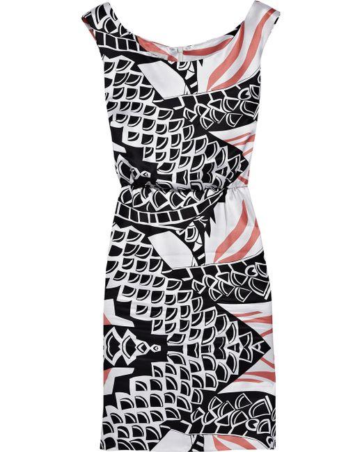 Temperley London | White Freeda Printed Silk-Twill Shift Dress | Lyst