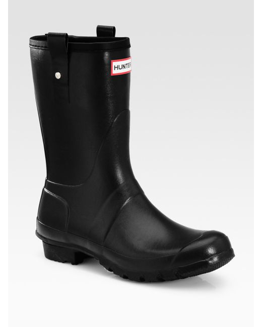Hunter | Black Tall Wellington Boots for Men | Lyst