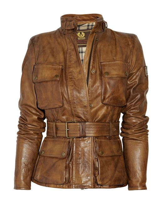 Golden Goose Deluxe Brand | Brown Triumph Leather Jacket | Lyst