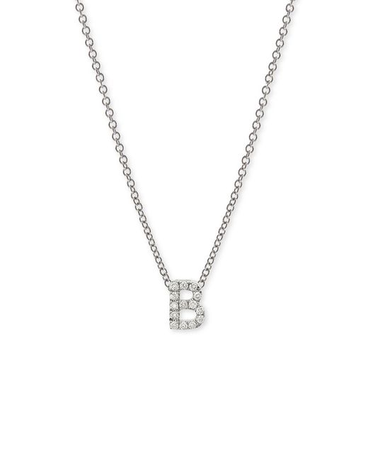 Bony Levy | White Pave Diamond Initial Pendant Necklace (nordstrom Exclusive) | Lyst