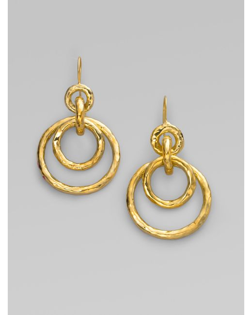 Ippolita | Metallic Glamazon 18k Yellow Gold Mini Jet Set Drop Earrings | Lyst
