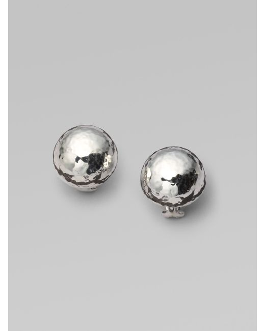Ippolita | Metallic Glamazon Sterling Silver Half Ball Button Earrings | Lyst