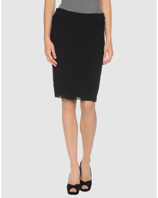 Philosophy di Alberta Ferretti   Black Knee Length Skirt   Lyst