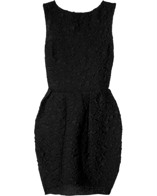 Lanvin | Black Overlay Draped Evening Dress | Lyst