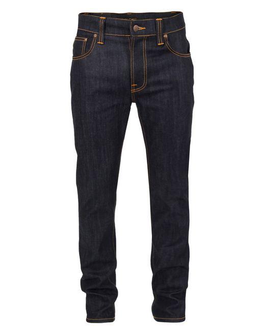 Nudie Jeans | Blue Brute Knut Dry Navy Comfort Denim Jeans 112008 for Men | Lyst