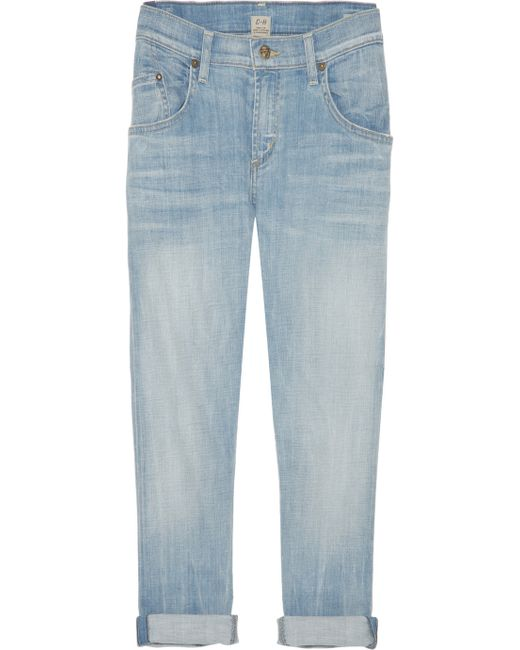Citizens of Humanity | Blue Cropped Jeans | Lyst