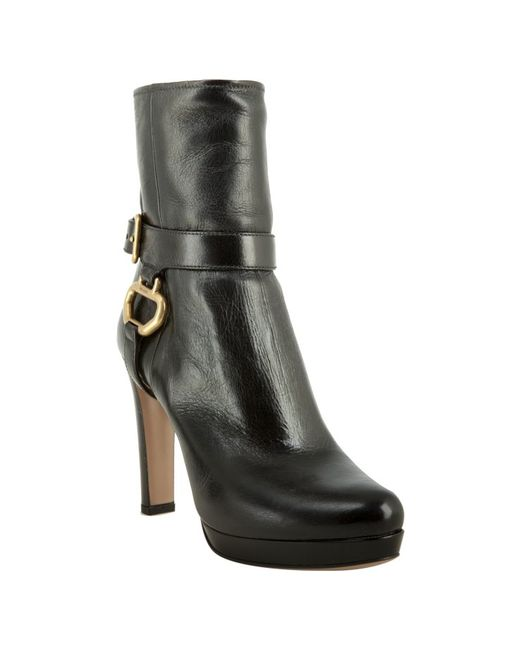 Prada | Black Platform Ankle Boots | Lyst