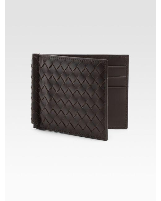 Bottega Veneta   Black Classic Woven Wallet for Men   Lyst