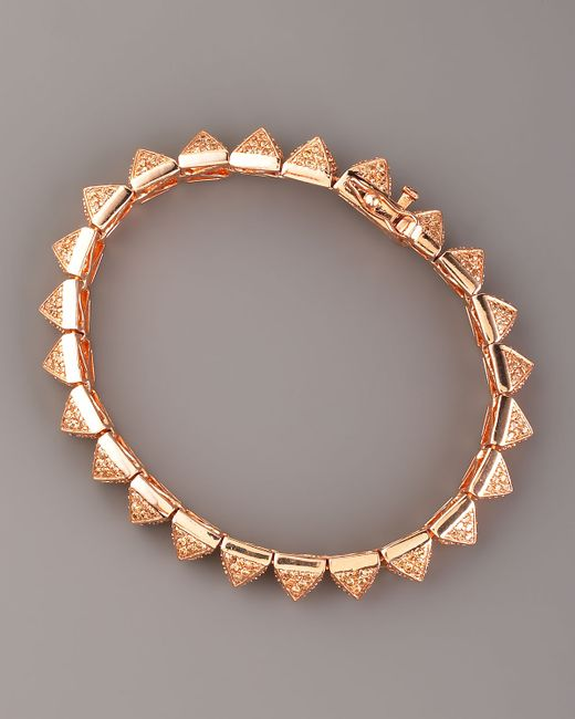 Eddie Borgo | Pink Small Pave Crystal Pyramid Tennis Bracelet | Lyst
