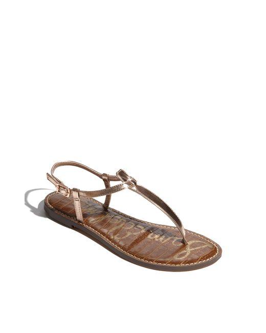 Sam Edelman | Brown 'gigi' Sandal | Lyst