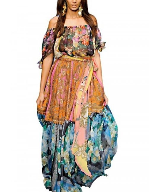 Dolce & Gabbana | Multicolor Floral Jacquard Shift Dress | Lyst