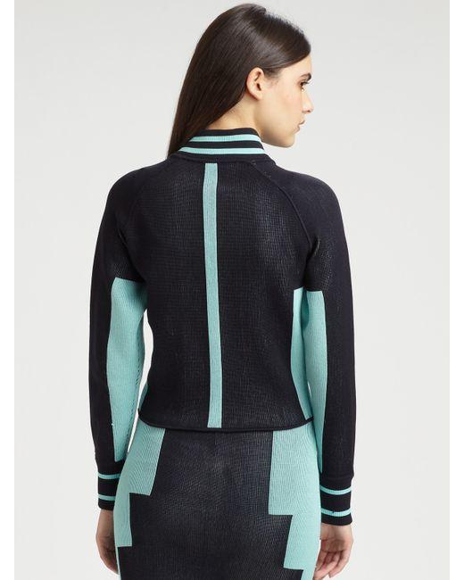 Alexander Wang | Blue Engineered Track Suit Mini Skirt | Lyst