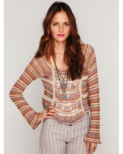 Free People | Multicolor Beachy Slouchy Pullover Sweater | Lyst