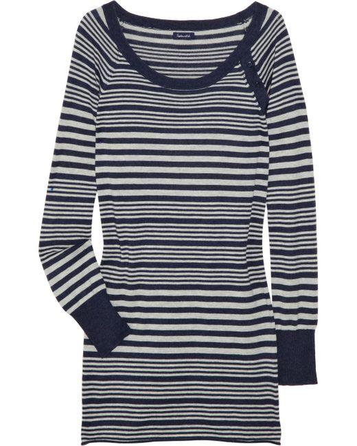 Splendid | Blue Striped Knitted Cardigan | Lyst