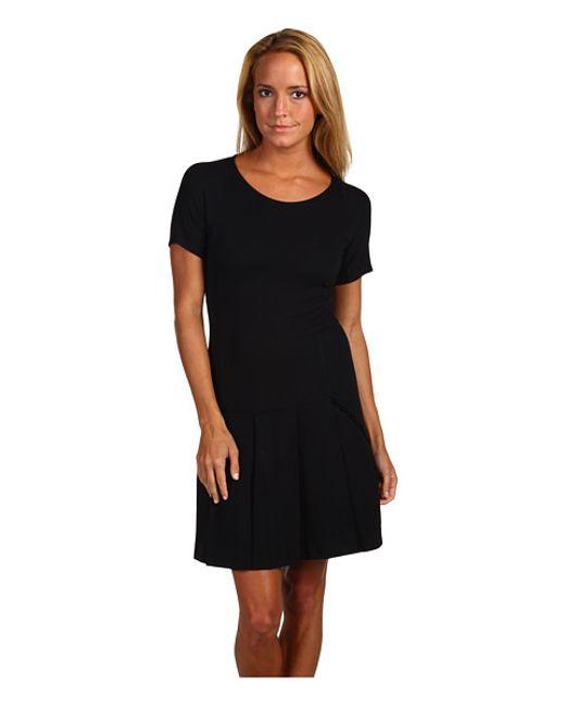 Theory | Black Torylevina Lustrate Ruffle-hem Dress | Lyst