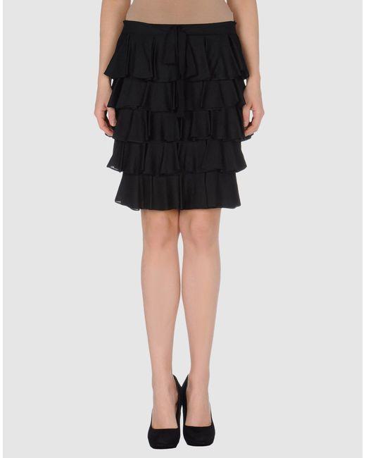RED Valentino | Black Merino Wool Skirt | Lyst