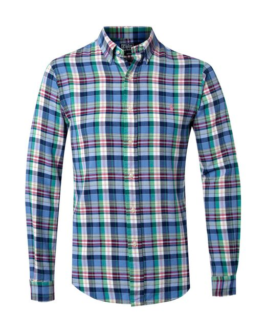 Polo Ralph Lauren | Blue Men's Plaid Estate Shirt for Men | Lyst