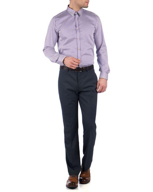 Ted Baker | Blue Statro Linen Blend Trousers for Men | Lyst