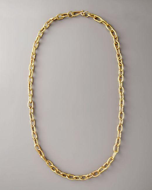"Ashley Pittman | Metallic 36"" Brnz Link Chain Necklace | Lyst"