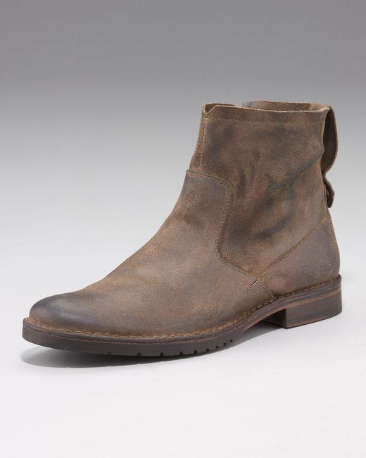 John Varvatos | Brown Driggs Suede Boot for Men | Lyst