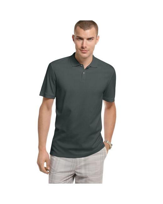 Calvin Klein | Gray Men's Interlock Liquid Cotton Polo for Men | Lyst