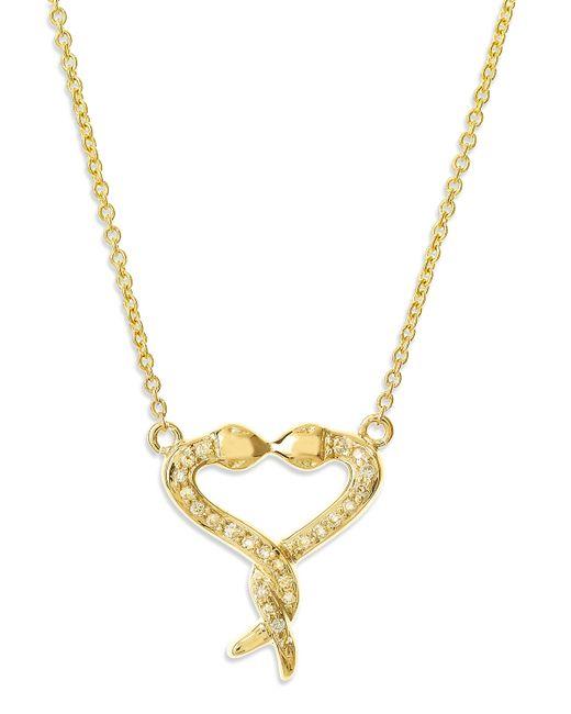 Sydney Evan | Metallic Kissing Snake Heart Necklace | Lyst