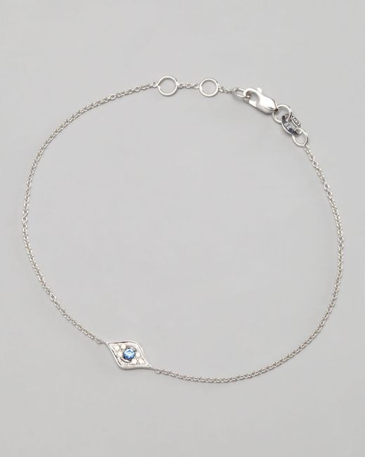 Sydney Evan | Metallic Mini Diamond Evil Eye Bracelet | Lyst