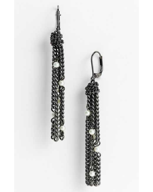 Givenchy | Metallic Rosary Bead Earrings | Lyst