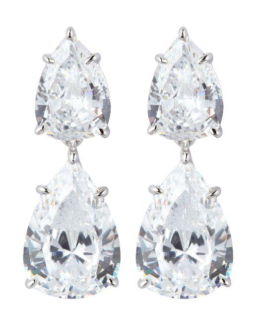 Fantasia by Deserio | Metallic Double Pear-cut Drop Earrings | Lyst