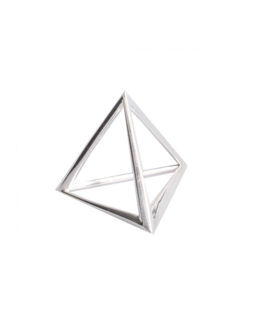 Hannah Martin | Metallic Shaman's Triangle Simple Ring Silver | Lyst
