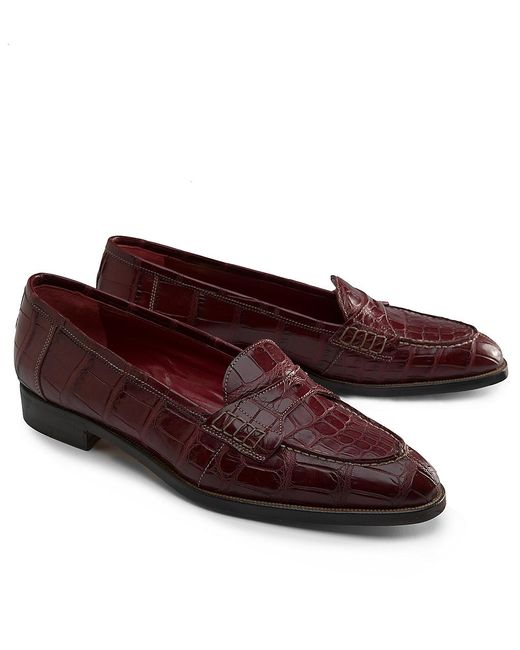 Brooks Brothers Womens Alligator Shoes