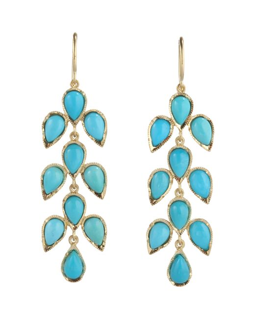 Irene Neuwirth | Blue Leaf Drop Earrings | Lyst